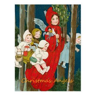 Vintage Christmas Angels Postcard