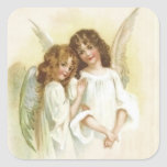 Vintage Christmas Angels Sticker