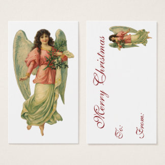 Vintage Christmas, Antique Victorian Angel Business Card