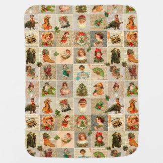 Vintage Christmas Baby Blanket