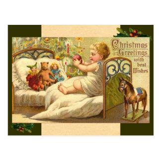 Vintage Christmas Baby Postcard