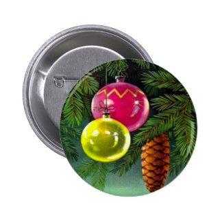 VIntage Christmas, Baubles and Pine Cones Pins