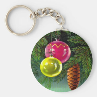 VIntage Christmas, Baubles and Pine Cones Key Chains