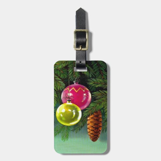 VIntage Christmas, Baubles and Pine Cones Tags For Bags