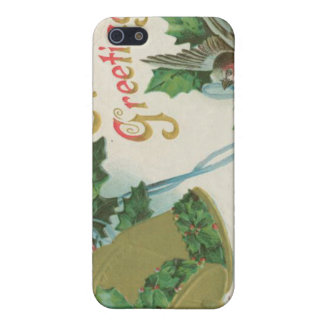Vintage Christmas Bells and Bird iPhone 5 Cases
