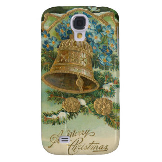 Vintage Christmas Bells and Gold Pine Cones Samsung Galaxy S4 Cover