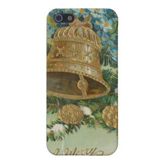Vintage Christmas Bells and Gold Pine Cones iPhone 5 Covers