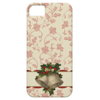 Vintage Christmas Bells and Holly iPhone 5 Case