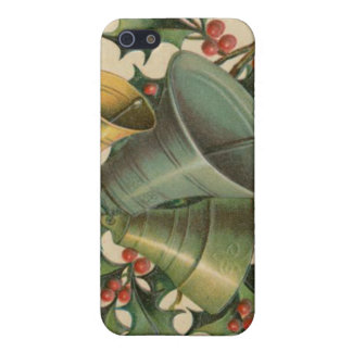 Vintage Christmas Bells and Holly iPhone 5 Cases