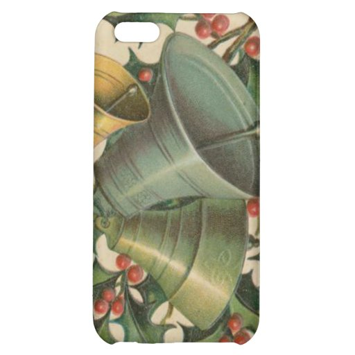 Vintage Christmas Bells and Holly iPhone 5C Case