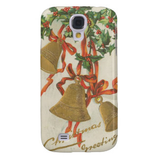 Vintage Christmas Bells and Ribbons Galaxy S4 Covers