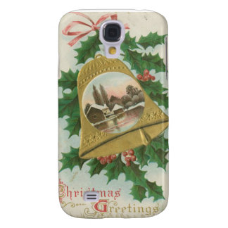 Vintage Christmas Bells and Town Samsung Galaxy S4 Cases