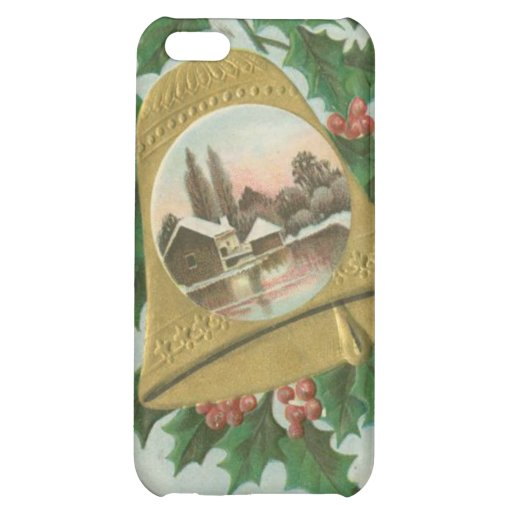 Vintage Christmas Bells and Town iPhone 5C Case