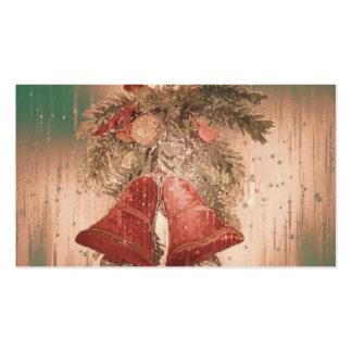 vintage christmas bells business cards
