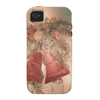 Vintage Christmas Bells Case For The iPhone 4