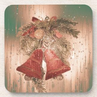 Vintage Christmas Bells Coasters