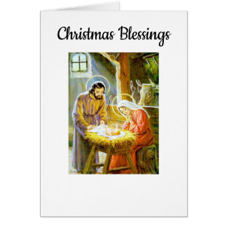 Vintage Christmas Blessings Card