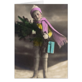 Vintage Christmas Boy Cards