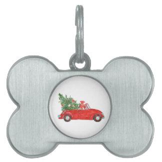 Vintage Christmas Car Pet ID Tag