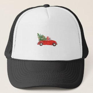 Vintage Christmas Car Trucker Hat