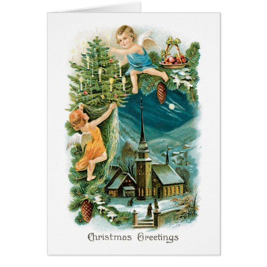 Vintage Christmas Card - Christmas Greetings