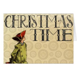 """Vintage Christmas Card """"Christmas Time"""""""