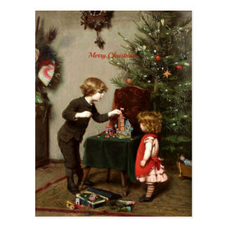 Vintage Christmas Card Decoration