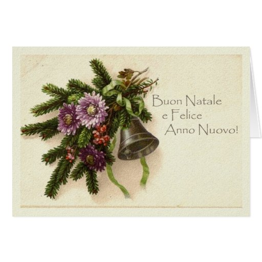 Vintage Christmas Card in Italian