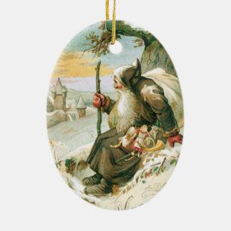 Vintage Christmas Card Ornament