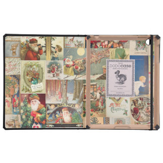 Vintage Christmas Cards Holiday Pattern iPad Case