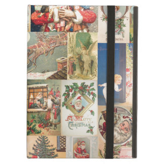 Vintage Christmas Cards Holiday Pattern Case For iPad Air