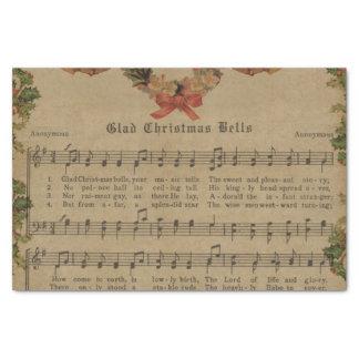 Vintage Christmas Carol Music Sheet