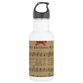 Vintage Christmas Carol Music Sheet 532 Ml Water Bottle
