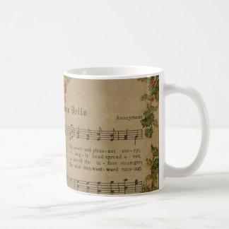 Vintage Christmas Carol Music Sheet Coffee Mug