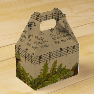 Vintage Christmas Carol Music Sheet Favour Box
