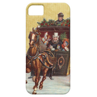 Vintage Christmas Carriage Ride iPhone 5 Covers