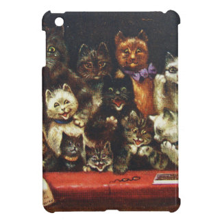 Vintage Christmas Cat Family - At the Play iPad Mini Cases