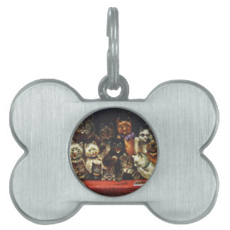Vintage Christmas Cat Family - At the Play Pet ID Tag