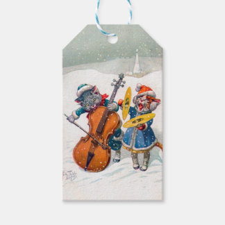 Vintage Christmas Cats, Arthur Thiele Gift Tags