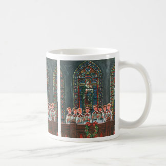 Vintage Christmas Children Singing Choir in Church Coffee Mug