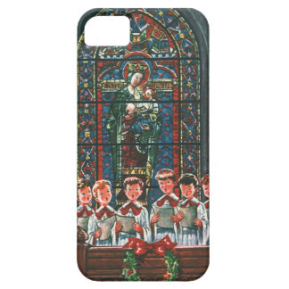 Vintage Christmas Children Singing Choir in Church iPhone 5 Cover