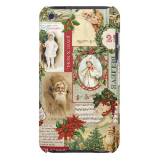 VINTAGE CHRISTMAS COLLAGE BARELY THERE iPod COVER