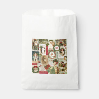 VINTAGE CHRISTMAS COLLAGE FAVOUR BAG