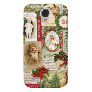 VINTAGE CHRISTMAS COLLAGE SAMSUNG GALAXY S4 COVER