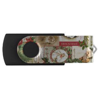 VINTAGE CHRISTMAS COLLAGE USB FLASH DRIVE