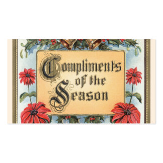 Vintage Christmas, Compliments of the Season Double-Sided Standard Business Cards (Pack Of 100)