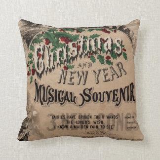 Vintage Christmas cushion, musical theatre poster Cushion