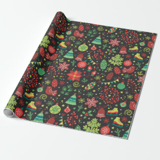 Vintage Christmas Decor Wrapping Paper Gift Wrap