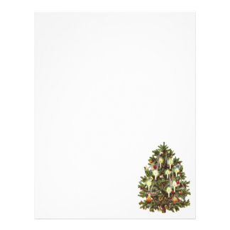 Vintage Christmas, Decorated Victorian Tree 21.5 Cm X 28 Cm Flyer