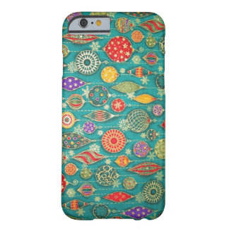Vintage Christmas Decoration Background Barely There iPhone 6 Case